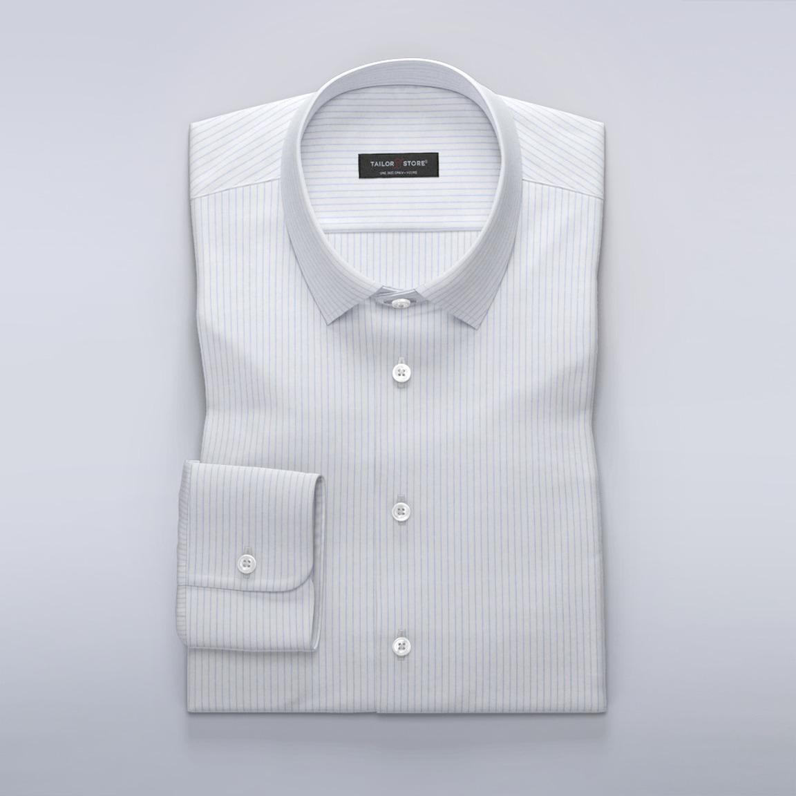 Businesskjorta med smala ljusblå ränder