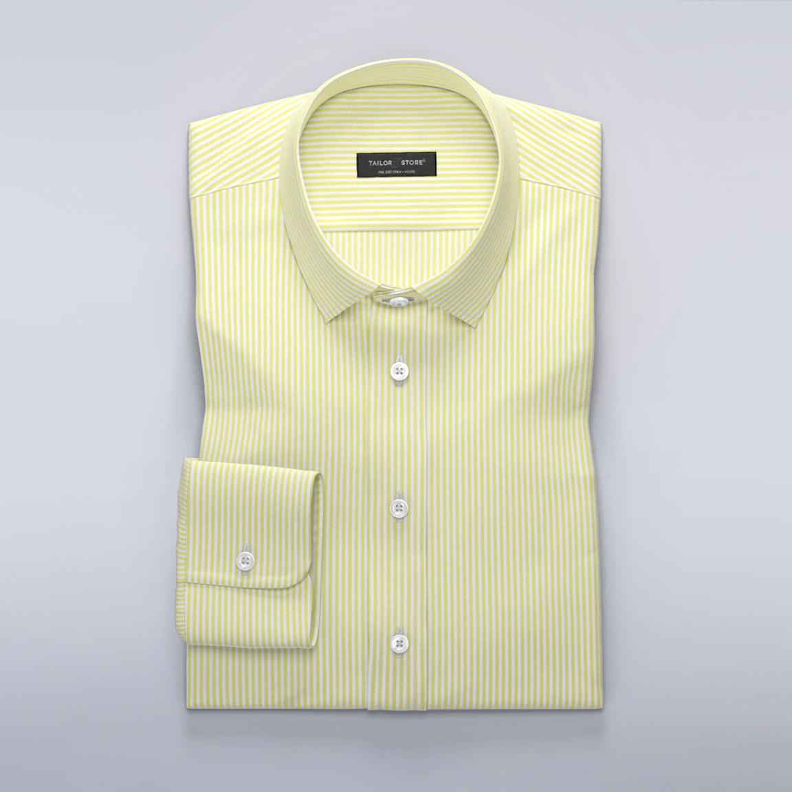 Stribet skjorte gul/hvid
