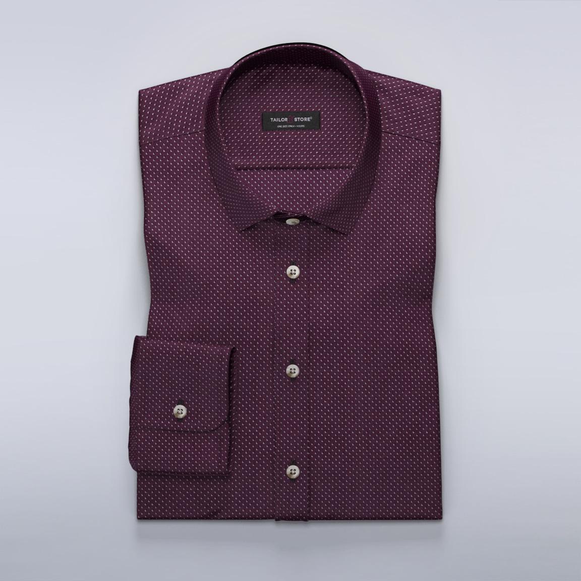 Vinröd skjorta med mönster