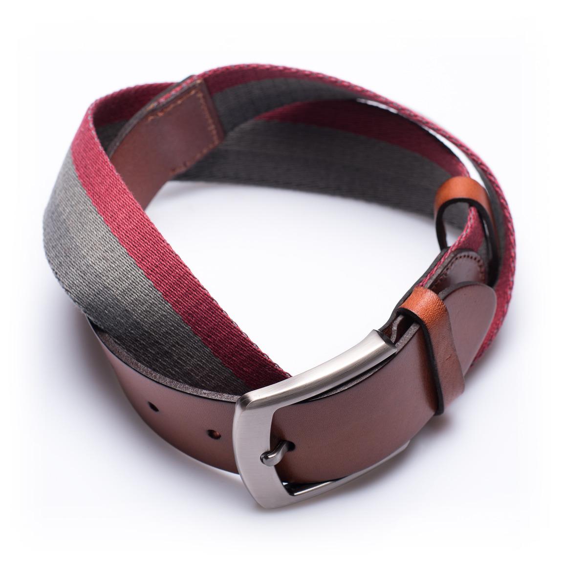 Preston Desert Sunrise - Leather and textile belt