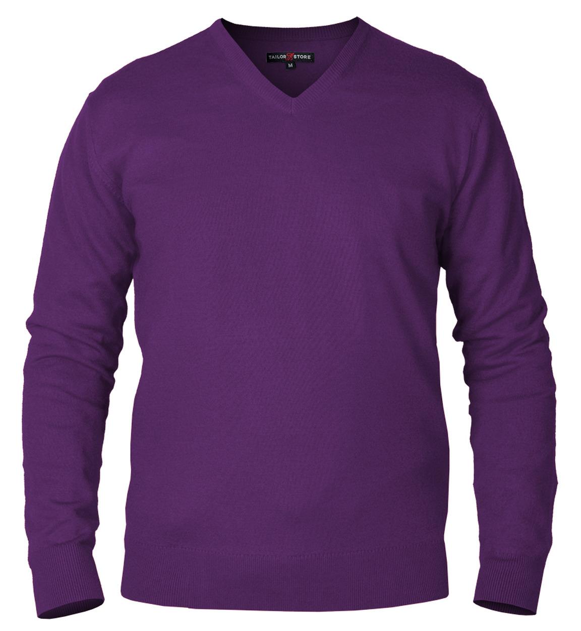 Windsor - pull en coton pima à col en V en violet