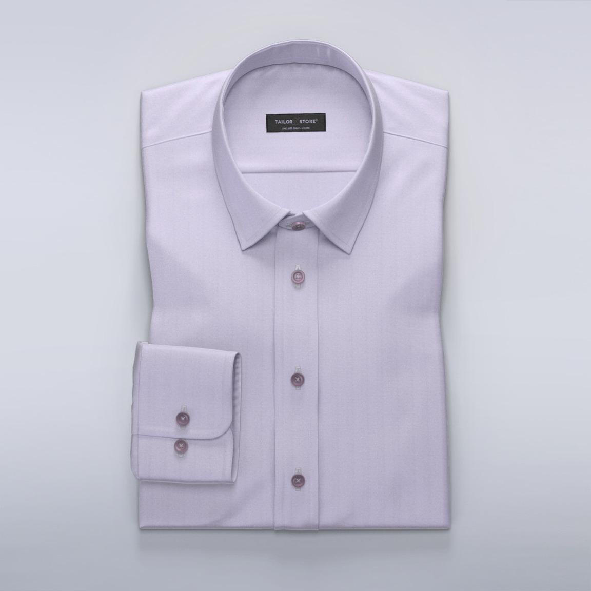 Light purple herringbone dress shirt