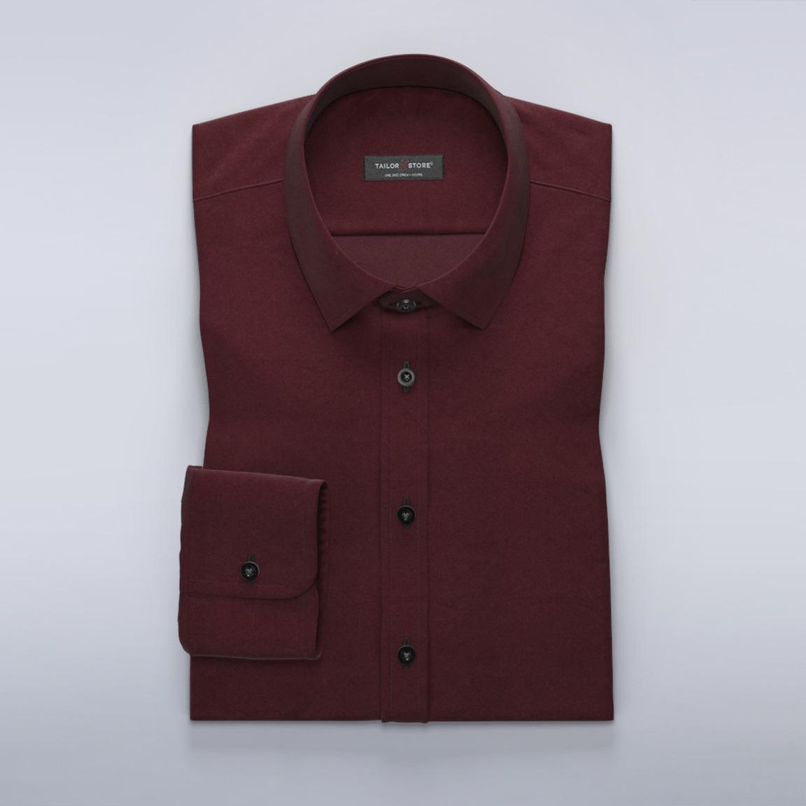 Satynowa koszula w kolorze bordowym