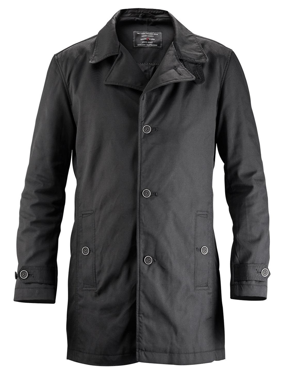 Svart skräddarsydd casual car coat