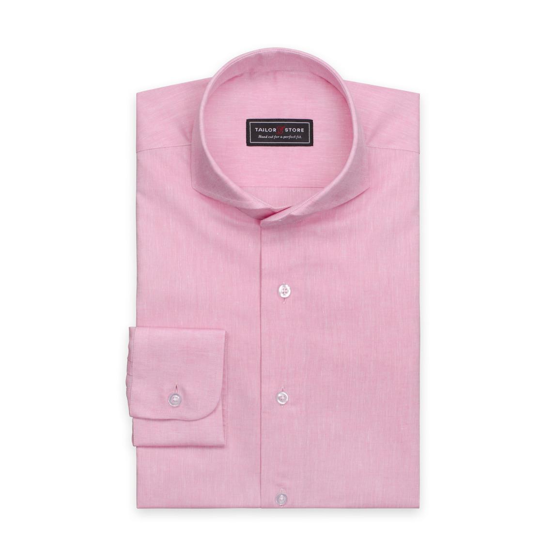 Light pink shirt in cotton/linen