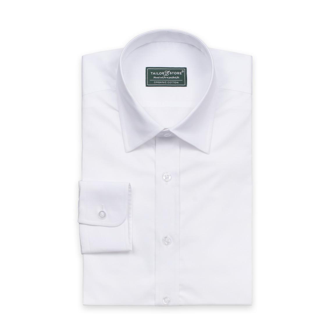 Økologisk business skjorte i glatvævet stof.