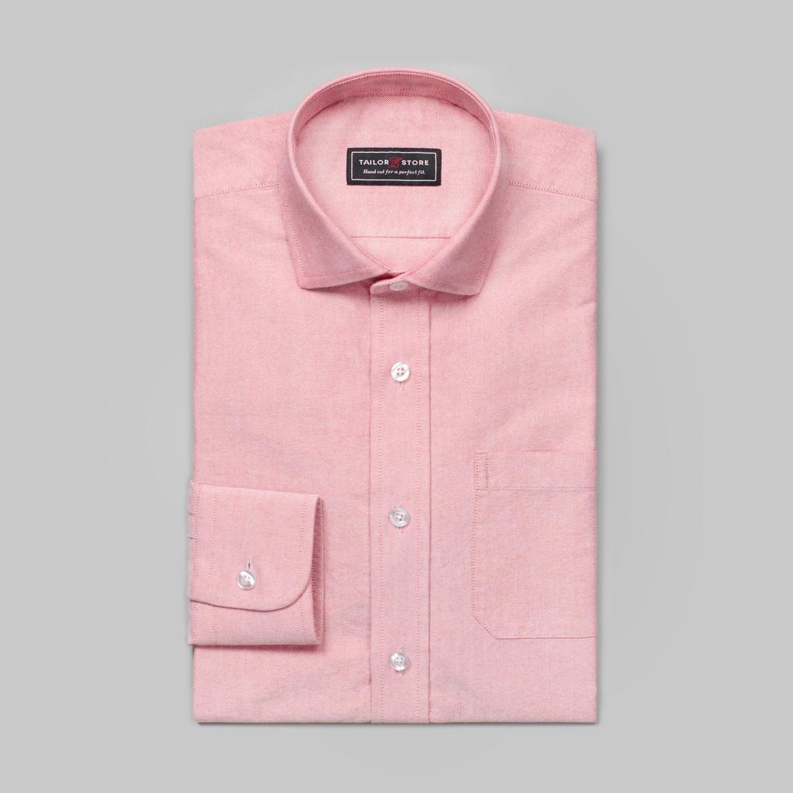 Hellrotes Oxford-Hemd