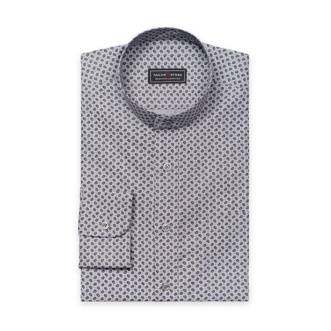 Harmaa paisleykuviollinen paita