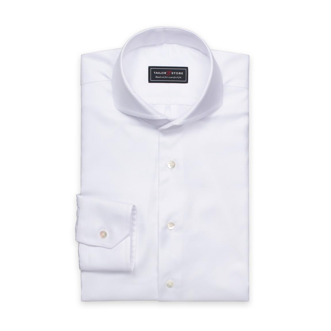 Biała, twillowa koszula