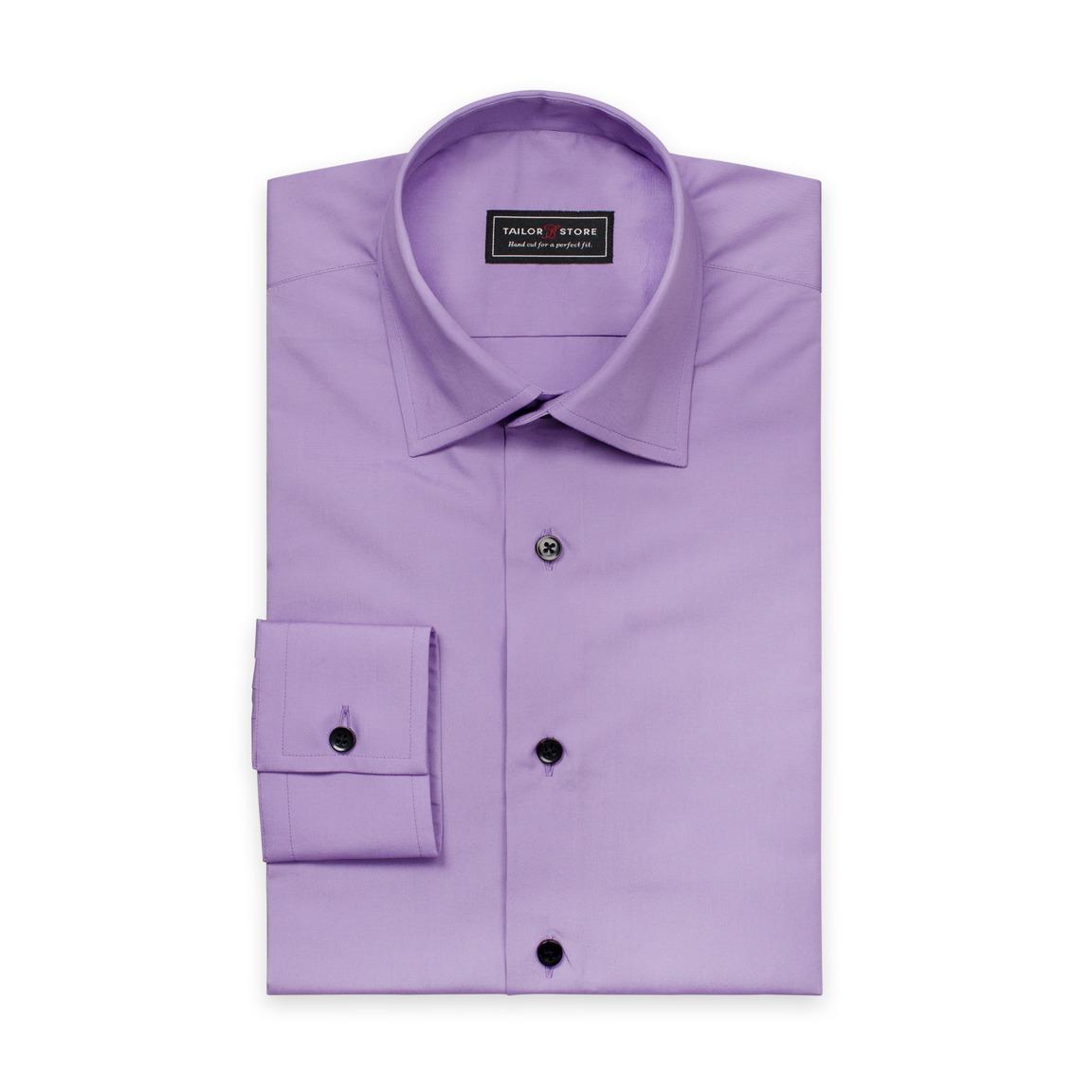 Lila poplinskjorta med business krage