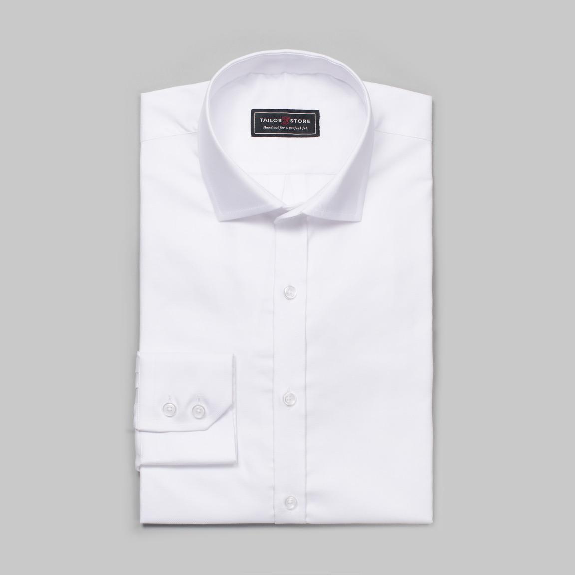 White Oxford cut-away shirt