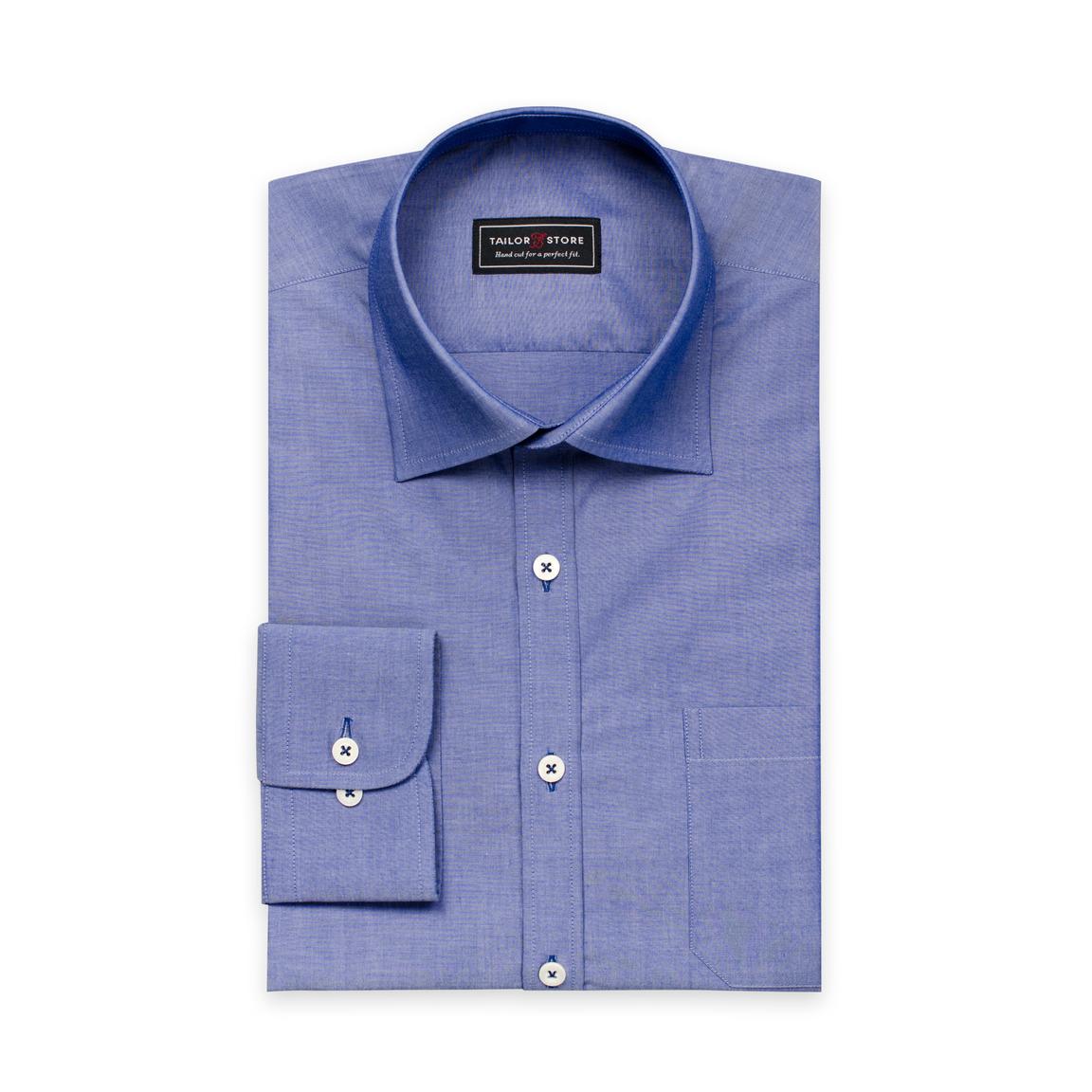 Chemise en chambray bleu foncée