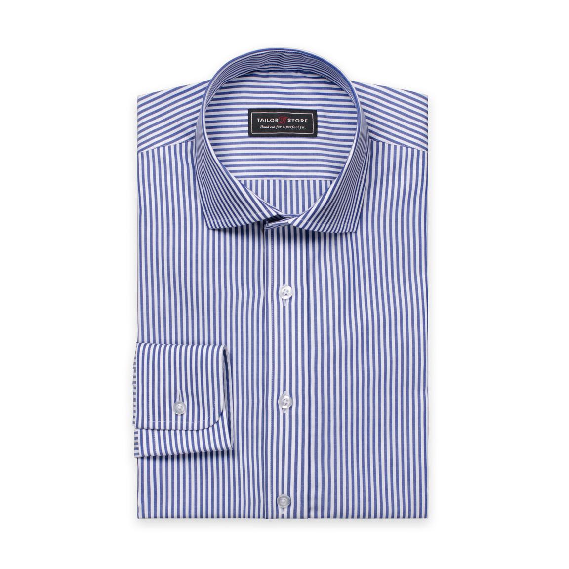 Chemise à rayures avec un col cut-away classique Blanc/Bleu