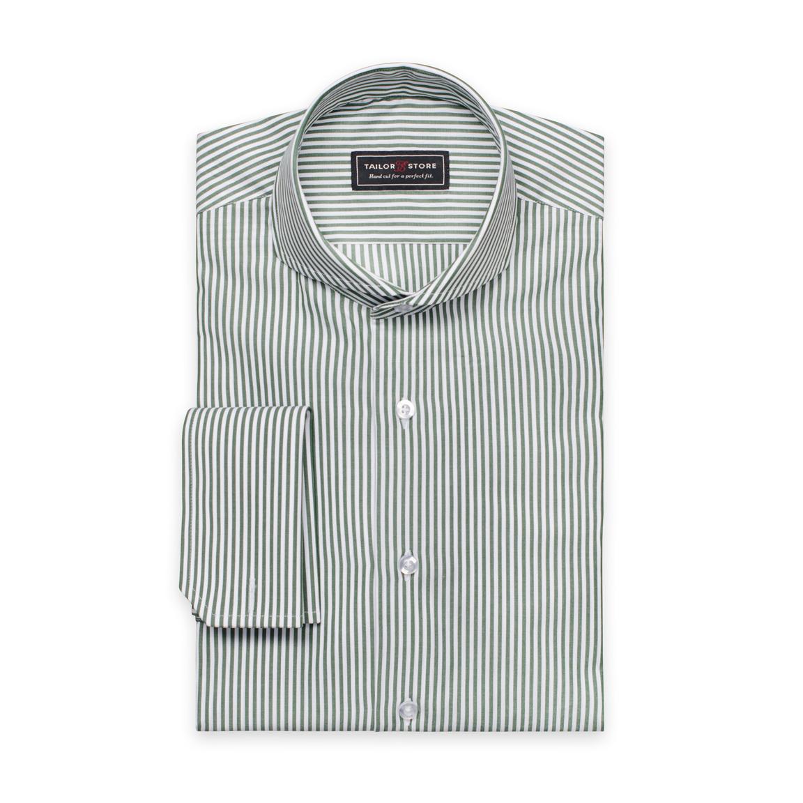 Dunkelgrün/weiß gestreiftes Hemd