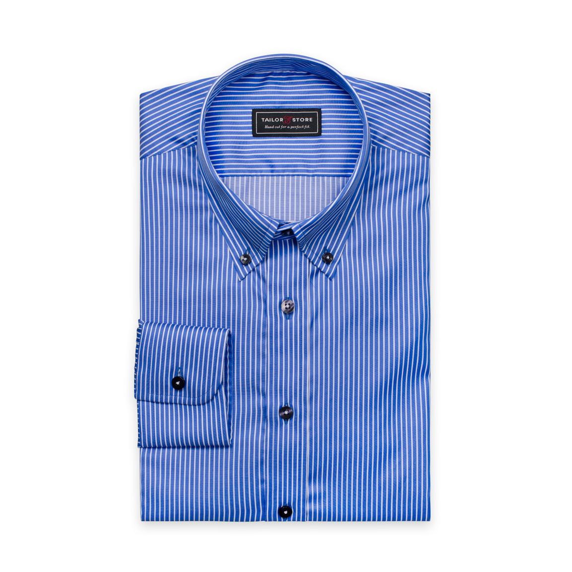 Blau/weiß gestreiftes Twill-Hemd