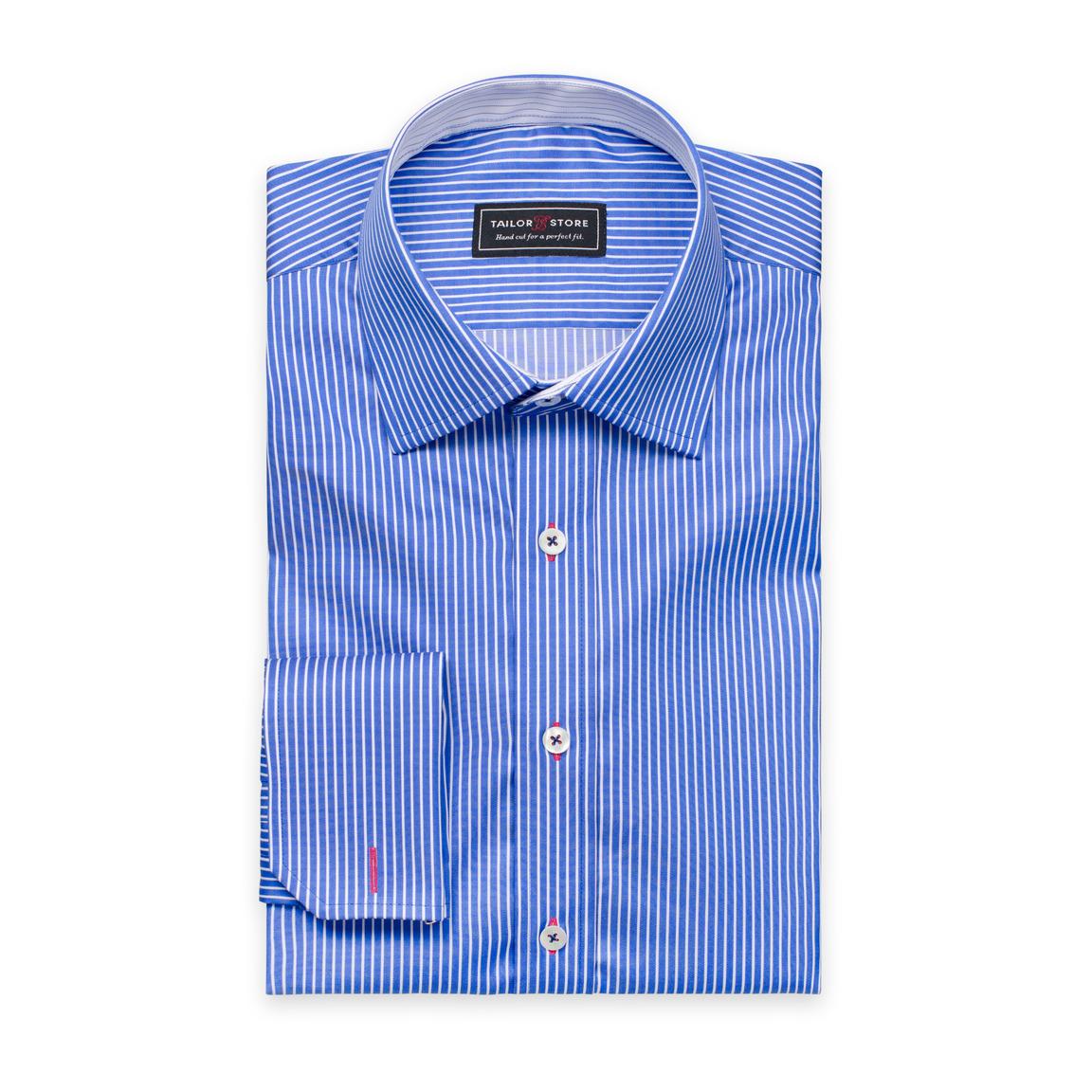 Chemise à rayures Blanc/Bleu foncé