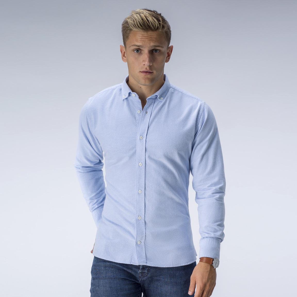 Light blue flannel Oxford shirt