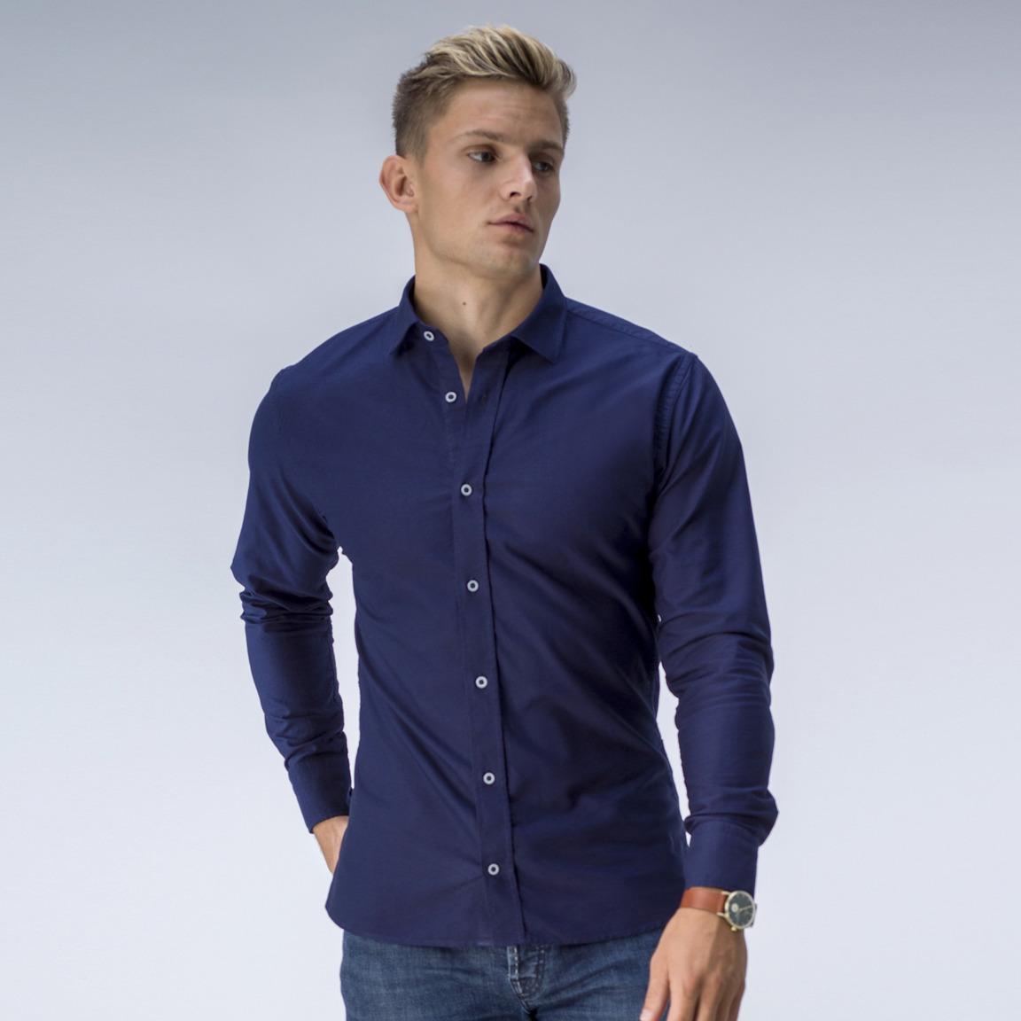 Navy oxford dress shirt<br>