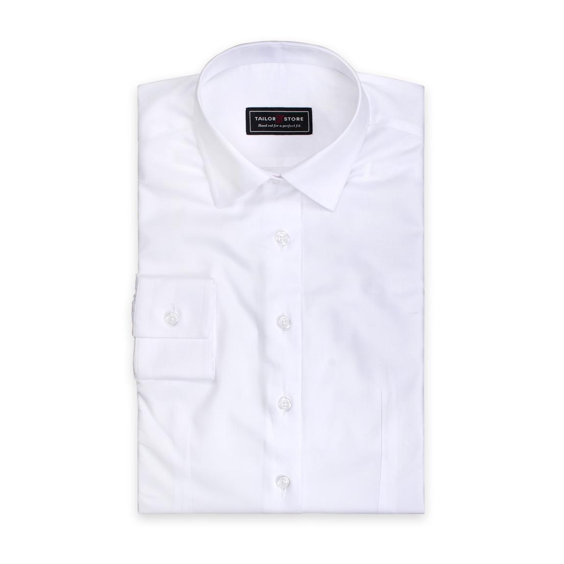 Vit skräddarsydd damskjorta med businesskrage