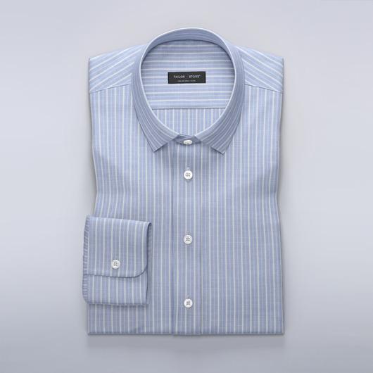 Przewiewna błękitna koszula w prążki