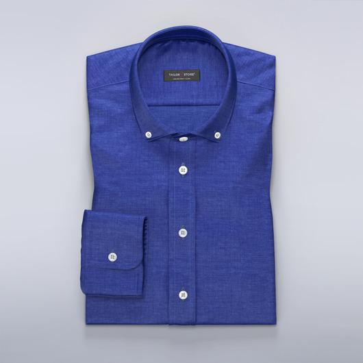 Clear blue linen dress shirt