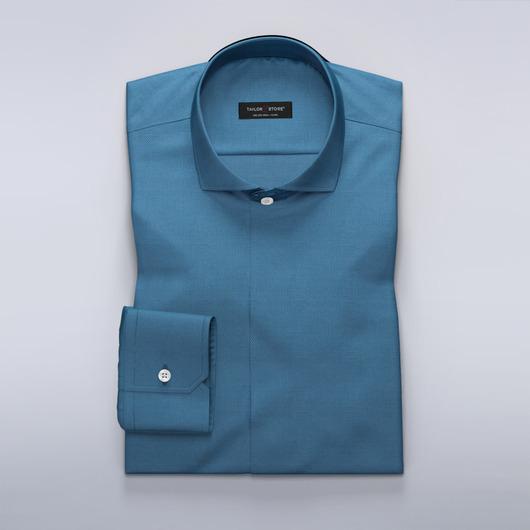 Blue patterned dress shirt<br>