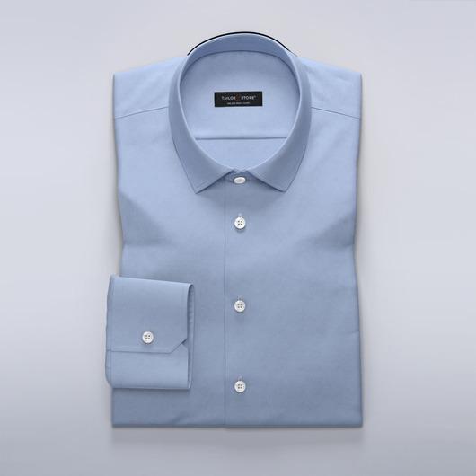Business-skjorte i lyseblå satin til damer