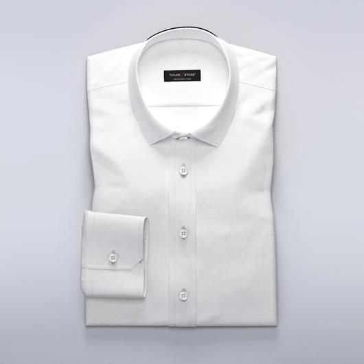 Weißes Business-Hemd aus Mischwolle