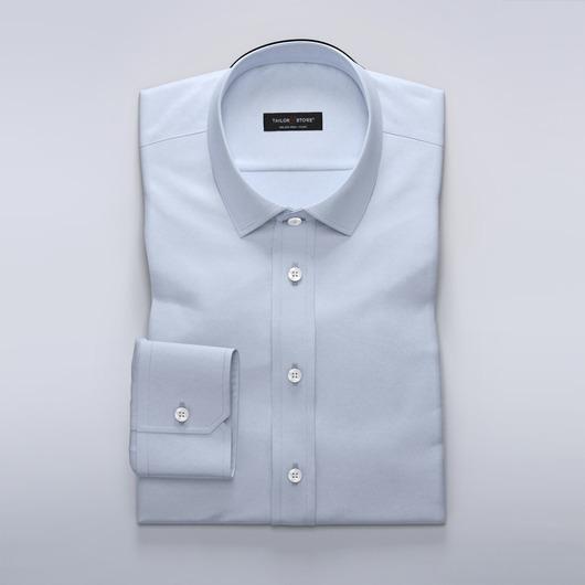 Chemise bleu clair business en laine mélangée