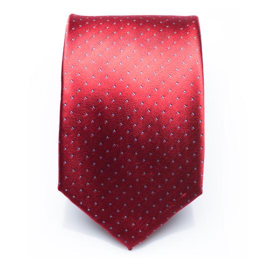 Fenwick Cherry - rot/weiß gepunktete Seidenkrawatte