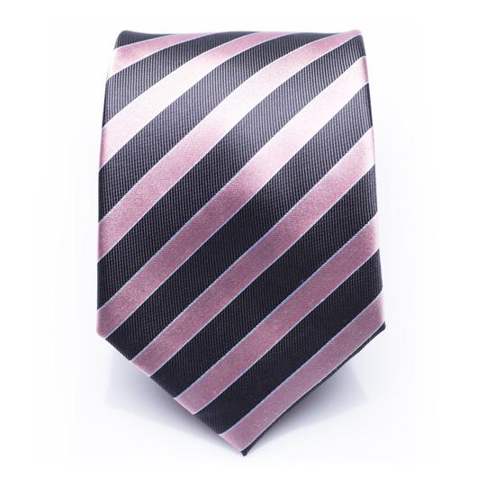 Hollindale Azalea - Pink/Blåstribet silkeslips