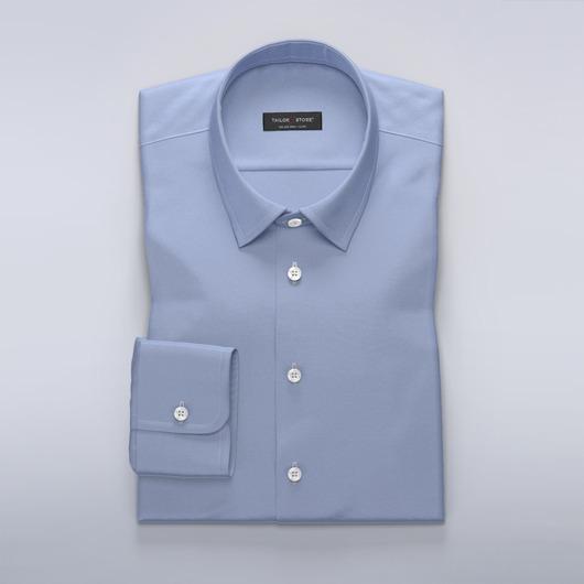 Chemise en coton satiné en bleu