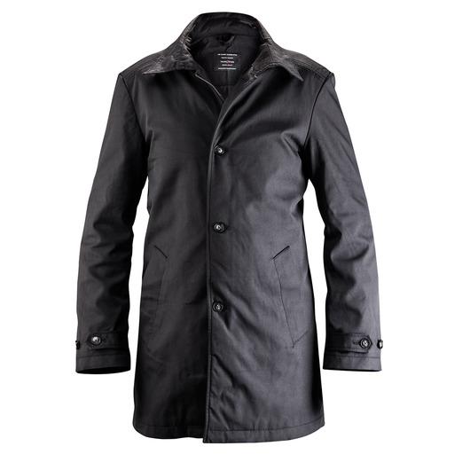 Black tailor made classic car coat