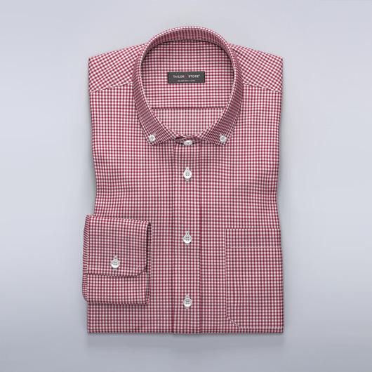 Rutete dresskjorte rød/hvit