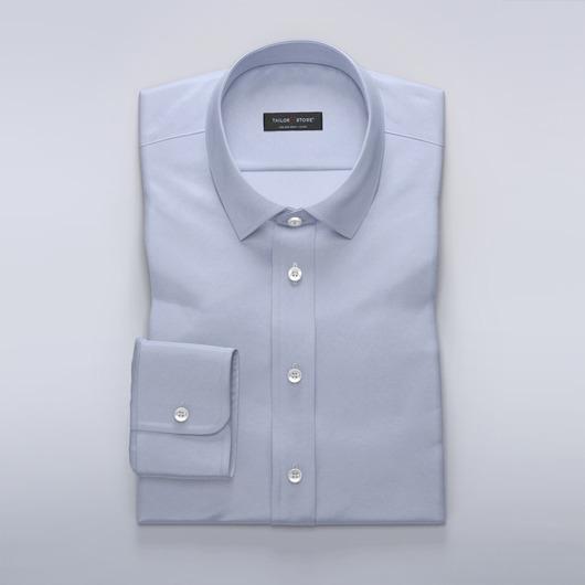 Business shirt in elegant light blue satin