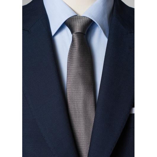 Grey silk tie