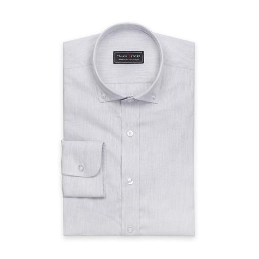 Lysegrå twillskjorte med button-down modern-krage