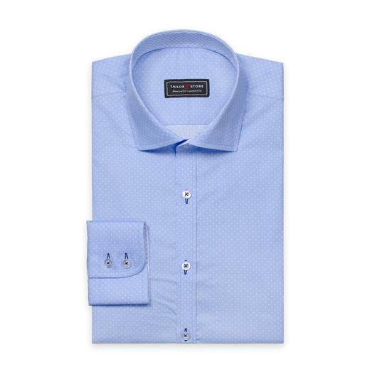 Ljusblå/Vitprickig skjorta