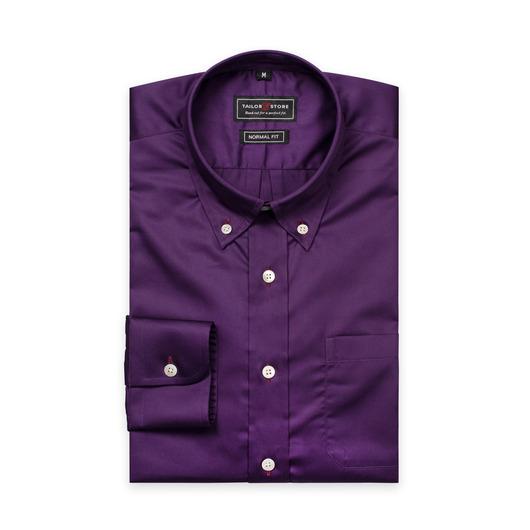 Chemis en coton satiné en violet foncé