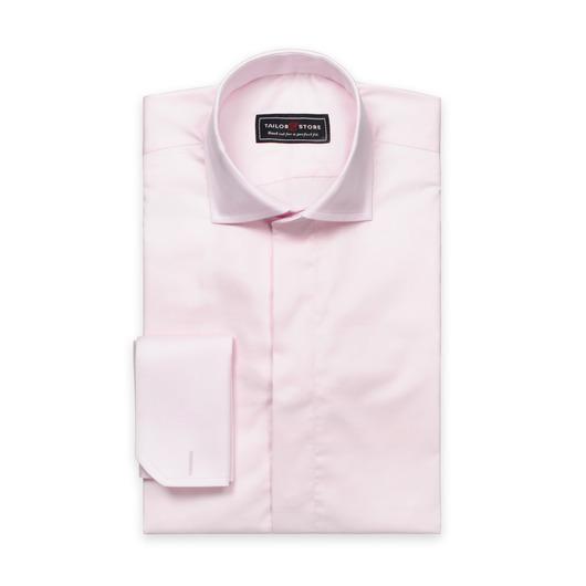 Chemise en coton satiné en rose clair