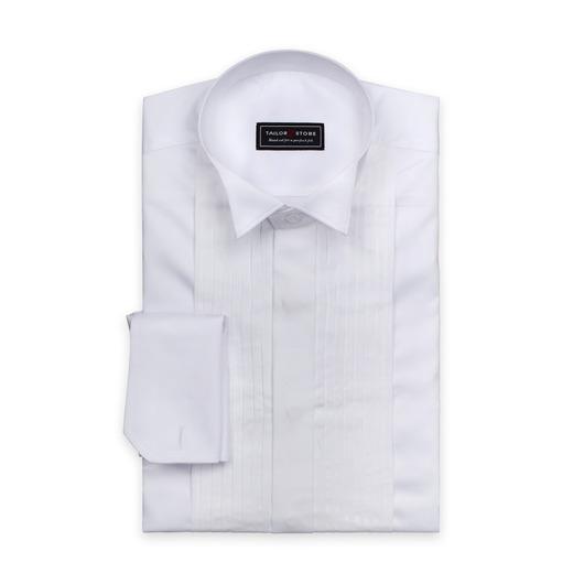 Smokingskjorta i satängvävd bomull