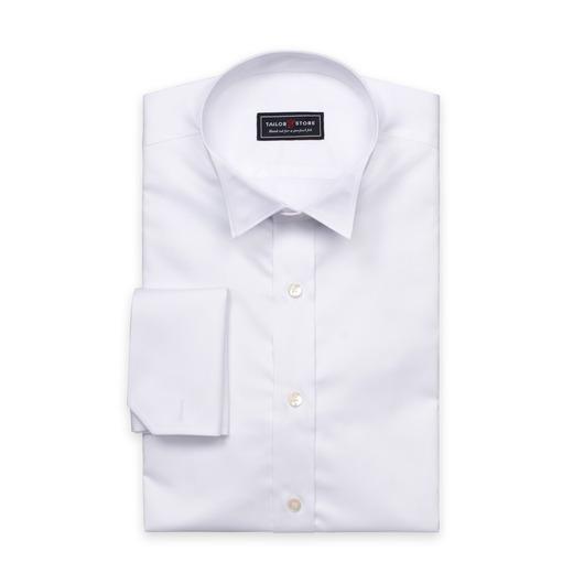 Weißes Hemd aus Satinbaumwolle