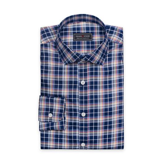 Twillowa koszula w wielokolorową kratkę