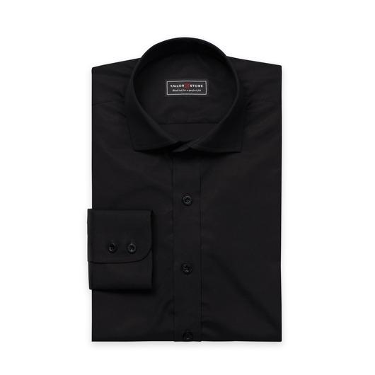 Zwart premium poplin overhemd