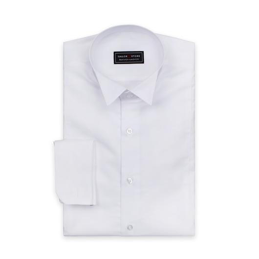 Weißes Frackhemd mit Kläppchenkragen