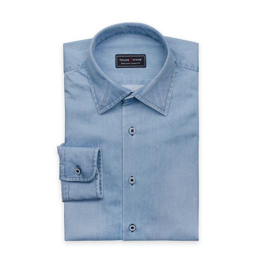 Denim classic, light blue denim shirt
