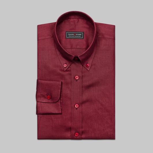Rotes Leinenhemd