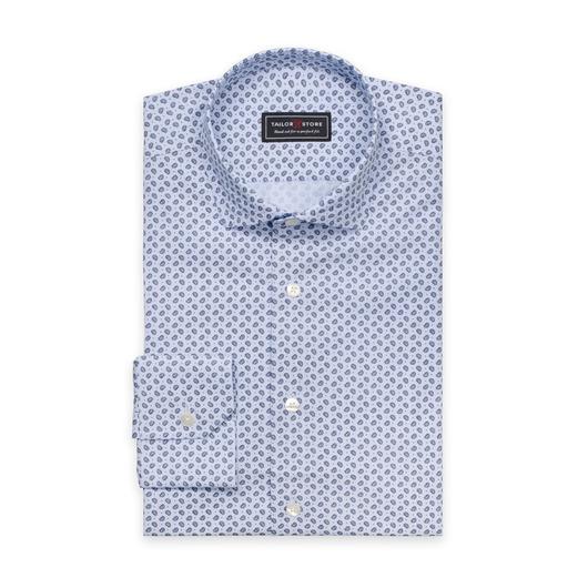 Light blue paisley patterned shirt