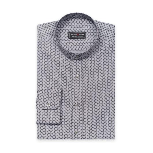 Grijs overhemd met paisley patroon