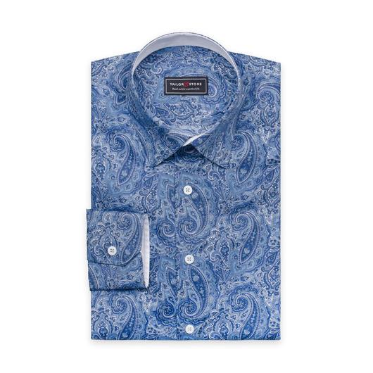 Dress shirt in blue paisley, Liberty Art